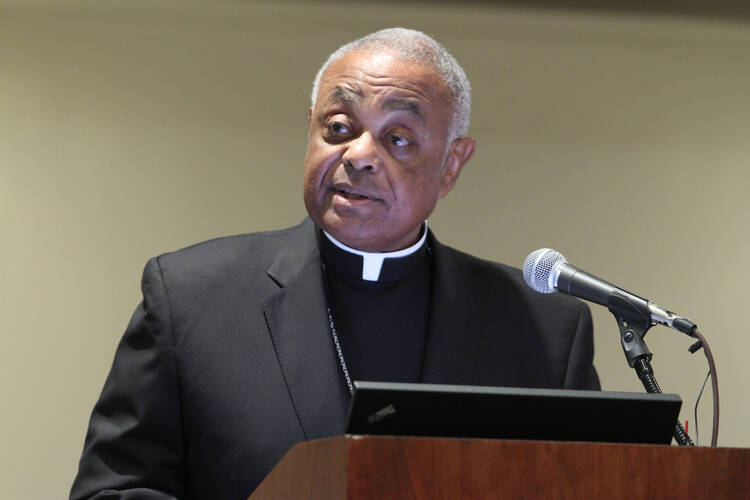 Wilton Gregory in 2012 (CNS photo/ Michael Alexander, Georgia Bulletin)