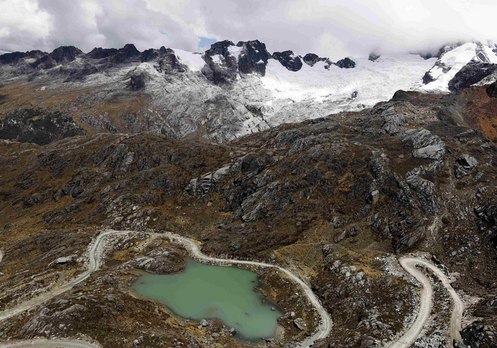 View of glacier lake seen in national park in Peru. (CNS photo/Mariana Bazo, Reuters)