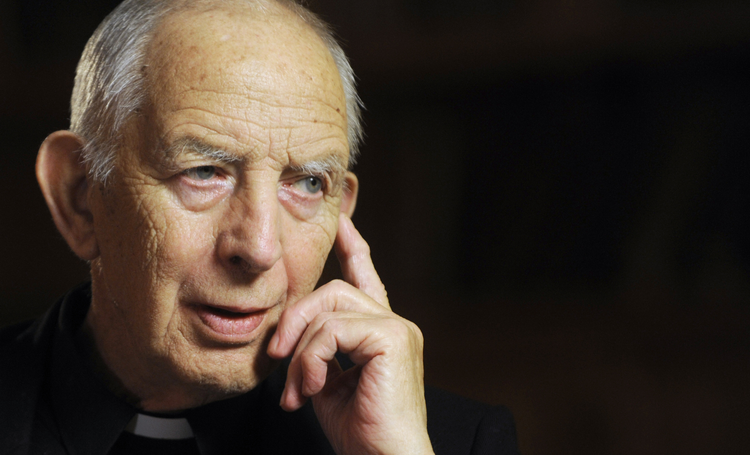 Redemptorist Father Alec Reid in 2010 (CNS photo/courtesy The Irish Catholic)