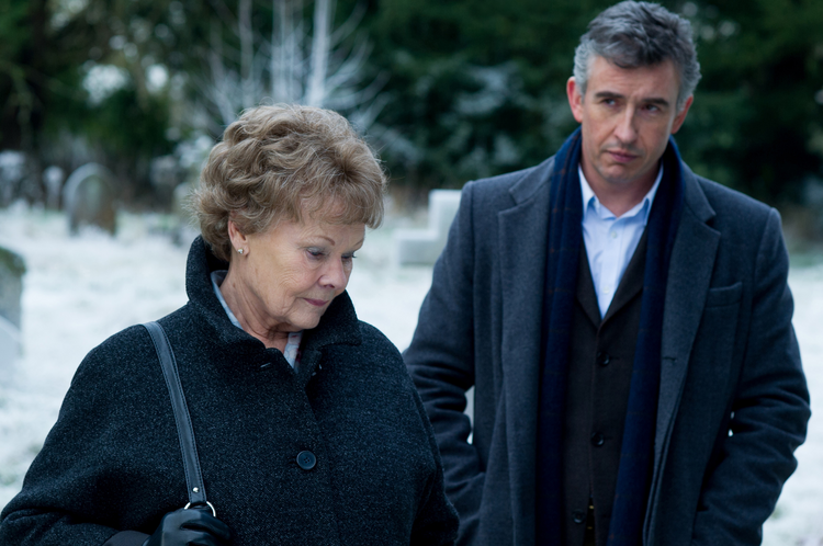 "Judi Dench and Steve Coogan star in a scene from the movie ""Philomena."" (CNS photo/Weinstein)"