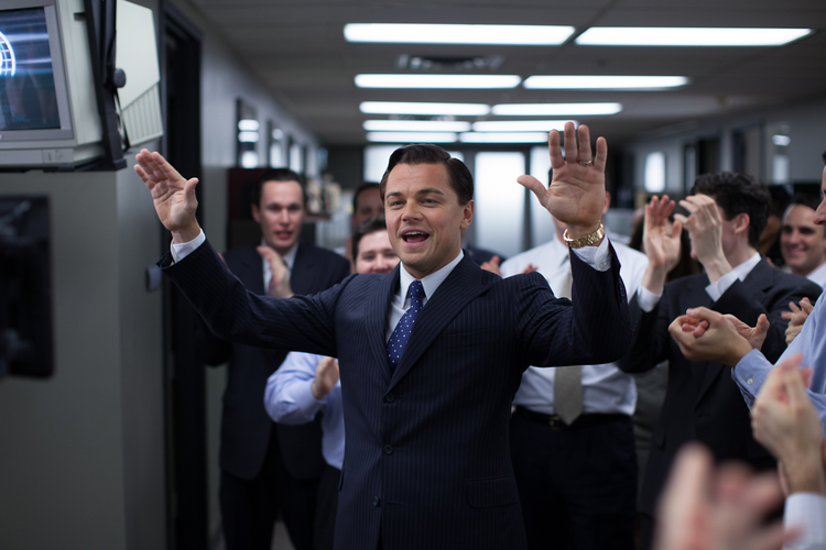 "BAD BOY. Leonardo DiCaprio in ""The Wolf of Wall Street"""