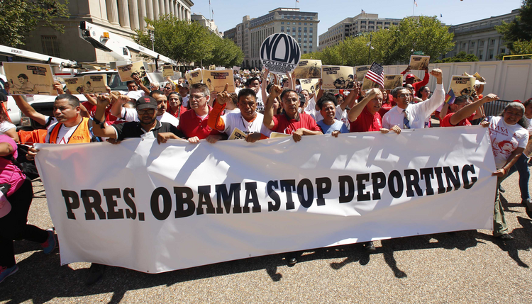 "Is President Obama ""giving a middle finger"" to Republicans by reducing deportations? (CNS photo/Kevin Lamarque, Reuters)"
