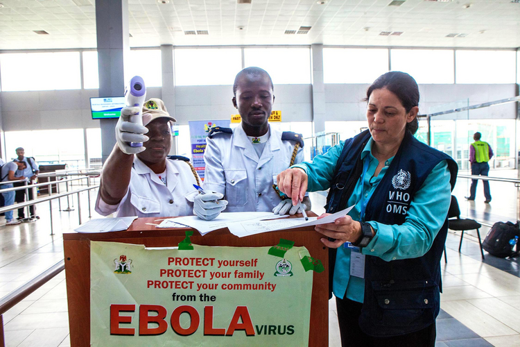 Miami physician-professor travels to West Africa to evaluate Ebola response. (CNS photo/courtesy Florida International University)