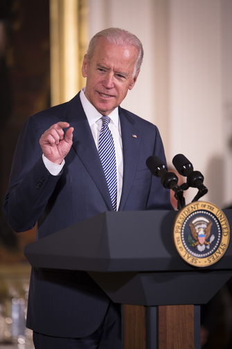 U.S. Vice President Joe Biden speaks during an Easter prayer breakfast in the East Room of the White House in Washington on April 7. (CNS photo/Tyler Orsburn)