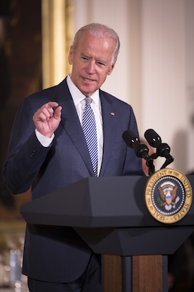 "Vice President Joe Biden may be more comfortable than Hillary Clinton at calling out ""malarkey."" (CNS photo/Tyler Orsburn)"