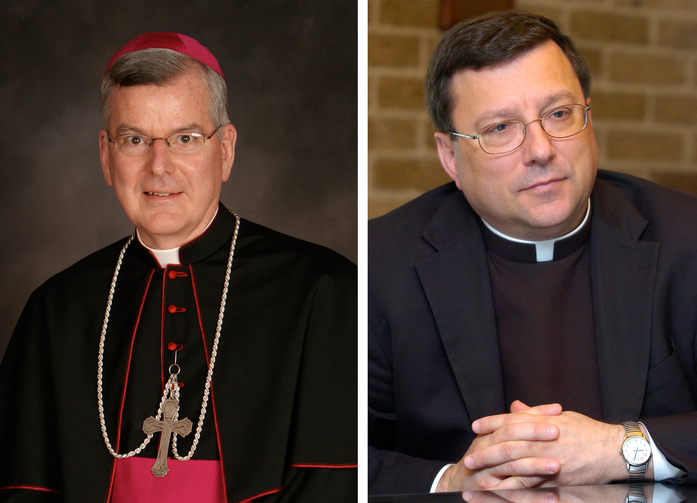 Archbishop John C. Nienstedt and Auxiliary Bishop Lee A. Piche of St. Paul and Minneapolis