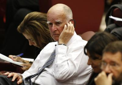 California Gov. Jerry Brown attends workshop with mayors from around the world at Vatican.