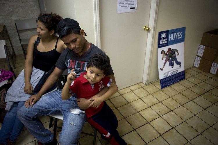 Next Stop, Sanctuary? A family from the Mexican state of Guerrero at the Casa del Migrante shelter in Tijuana, Mexico in Jun 2016. (CNS photo/David Maung)