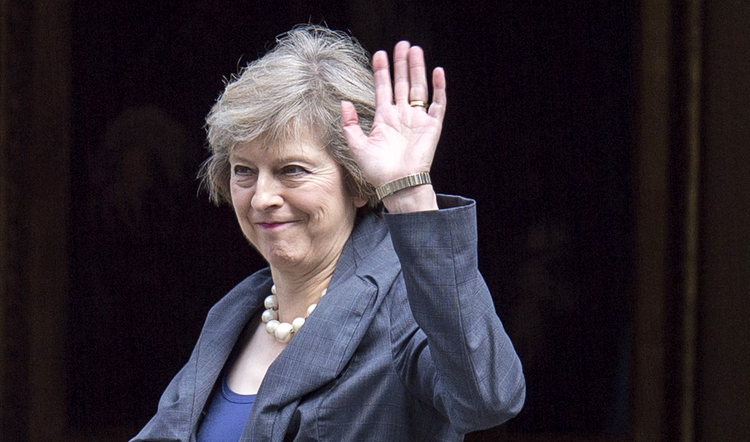British Prime Minister Theresa May is hoping she does not have to bid adieu to Scotland. (CNS photo/Will Oliver, EPA)