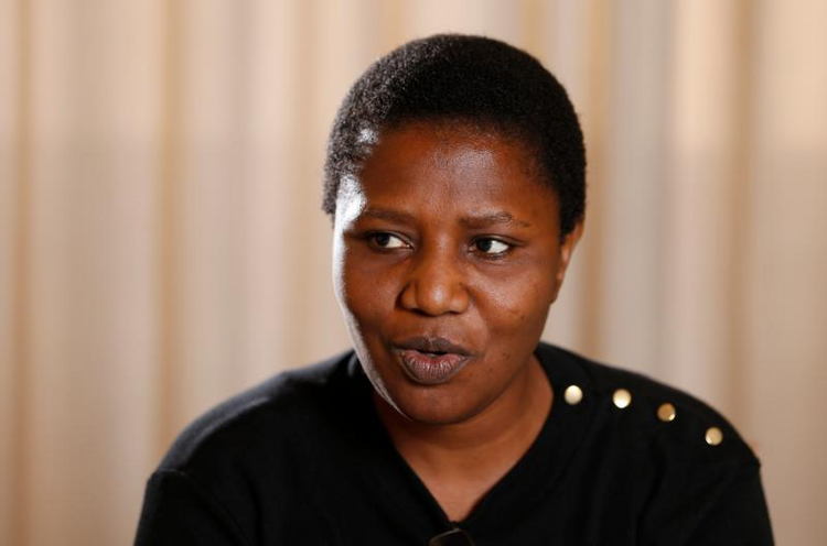 Sister Kayula Lesa from Zambia, a member of the Pontifical Commission for the Protection of Minors, speaks during an interview in Rome Sept. 12. She said in Zambia the church has taken a multitiered approach to fight abuse.