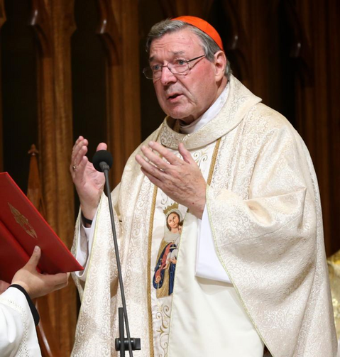 Australian Cardinal George Pell, prefect of the Secretariat for the Economy, is pictured in a 2014 photo in Sydney. Australian police questioned Cardinal Pell in Rome regarding accusations of alleged sexual abuse. (CNS photo/Jane Dempster, EPA)