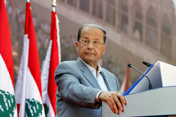 The Lebanese parliament elected 81-year-old Michel Aoun, pictured in 2015, as president Oct. 31, ending a two-and-a-half-year power vacuum. (CNS photo/Nabil Mounzer, EPA)