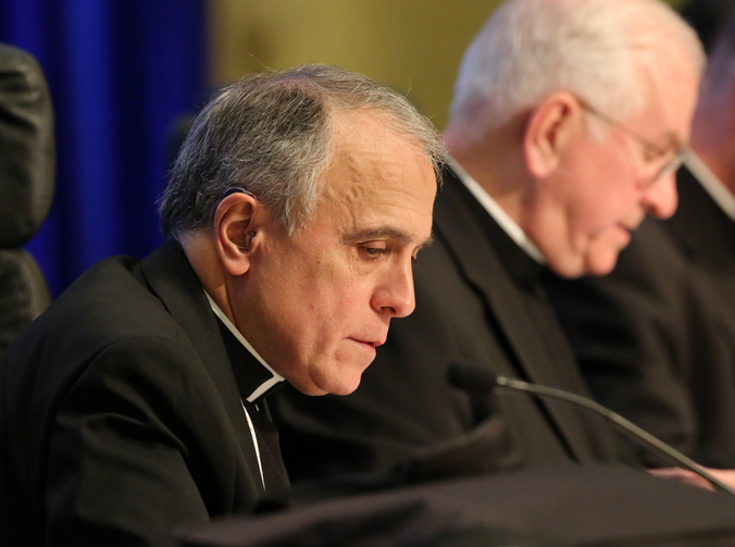 Cardinal Daniel N. DiNardo of Galveston-Houston is pictured Nov. 15, 2017, at the annual fall general assembly of the USCCB in Baltimore. (CNS photo/Bob Roller)