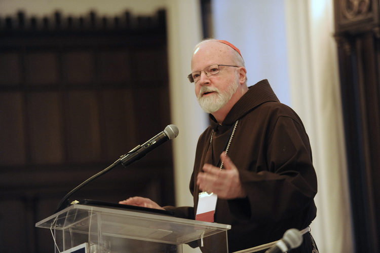 "Boston Cardinal Sean P. O'Malley speaks at a conference, ""Erroneous Autonomy: The Dignity of Work,"" Jan. 10 at The Catholic University of America in Washington. (CNS photo/Dana Rene Bowler, The Catholic University of America)"