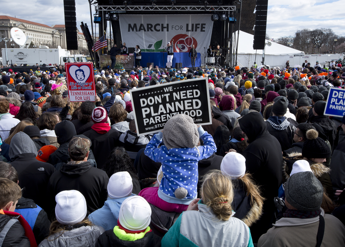 Pro-life advocates participate in the annual March for Life in Washington January 2017. (CNS photo/Tyler Orsburn)
