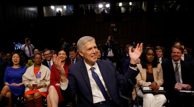 Judge Neil Gorsuch, President Donald Trump's nominee for the U.S. Supreme Court, attends his Senate Judiciary Committee confirmation hearing on Capitol Hill on March 20 in Washington. (CNS photo/Jonathan Ernst, Reuters)