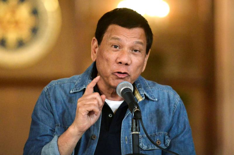 Philippine President Rodrigo Duterte announces the disbandment of police operations against illegal drugs on Jan. 30 in Manila. (CNS photo/Ezra Acayan, Reuters)
