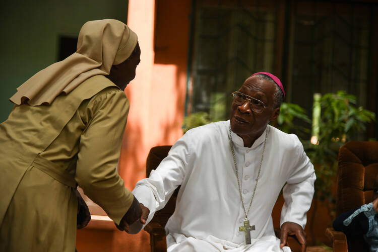 Archbishop Jean Zerbo of Bamako, Mali, is among five new cardinals to be created by Pope Francis at a June 28 Vatican consistory. (CNS photo/Nicolas Remene, EPA)
