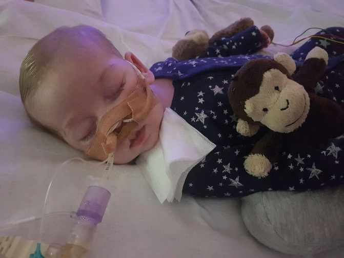 Charlie Gard, who was born in England with mitochondrial DNA depletion syndrome, is pictured in this undated family photo. The baby's parent, Chris Gard and Connie Yates, have lost their legal battle to keep Charlie on life-support and seek treatment for his rare condition in the United States. (CNS photo/family handout, courtesy Featureworld)