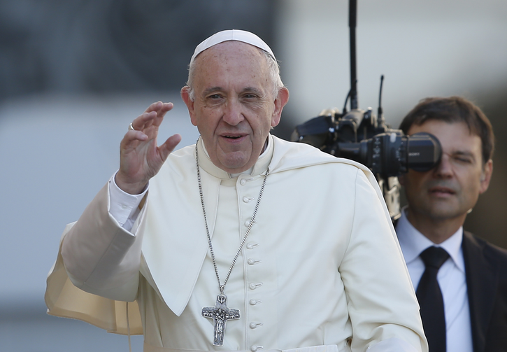 Pope Francis arrives to lead his general audience in St. Peter's Square at the Vatican Oct. 4. (CNS photo/Paul Haring)