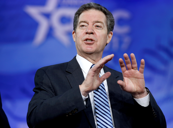 The U.S. Senate has confirmed Kansas Gov. Sam Brownback, a Catholic, as the new U.S. ambassador-at-large for international religious freedom. He is pictured in a 2017 photo. (CNS photo/Joshua Roberts, Reuters)