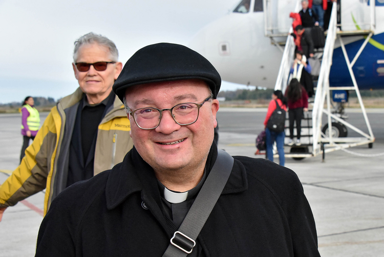 Archbishop Charles Scicluna of Malta arrives in Osorno, Chile, on June 14, beginning a pastoral mission to promote healing in the wake of a clerical sexual abuse crisis. (CNS photo/courtesy of Archdiocese of Santiago)