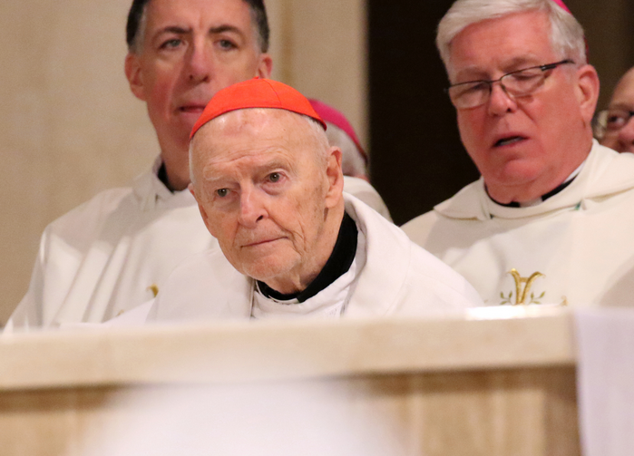 Former-Cardinal McCarrick in January. (CNS photo/Gregory A. Shemitz)