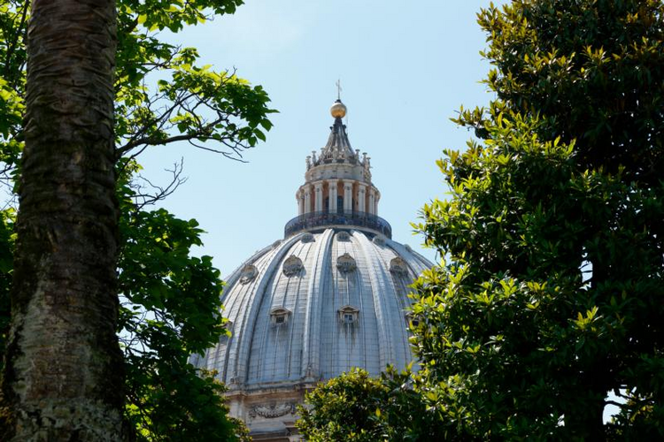 The dome of St. Peter's Basilica at the Vatican. (CNS photo/Paul Haring)