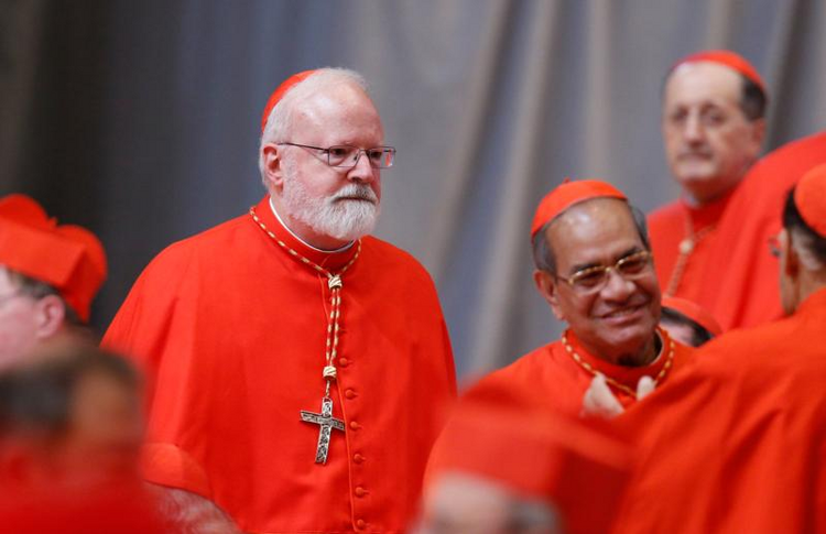 Cardinal Sean P. O'Malley of Boston, president of the Pontifical Commission for the Protection of Minors, is pictured before a consistory in St. Peter's Basilica at the Vatican June 28. (CNS photo/Paul Haring)