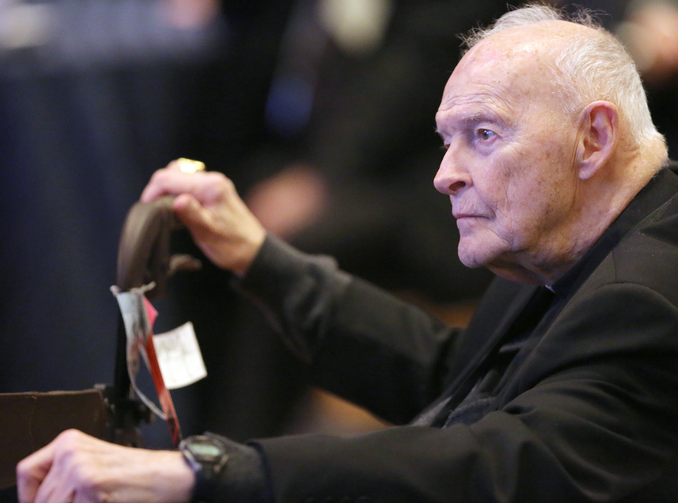 Former Cardinal Theodore E. McCarrick of Washington, pictured in 2017. (CNS photo/Bob Roller)