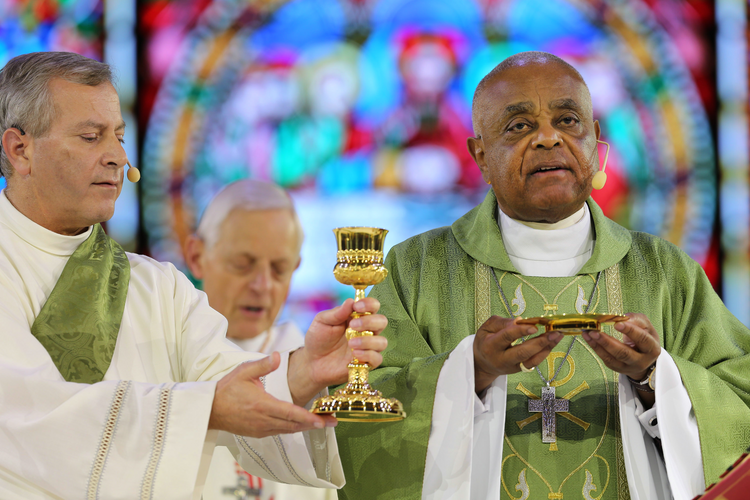 Atlanta Archbishop Wilton D. Gregory concelebrates Mass during the Catholic convocation in Orlando, Fla., in this July 2, 2017, file photo. On April 4, 2019, Pope Francis named Archbishop Gregory to head the Archdiocese of Washington. (CNS photo/Bob Roller)