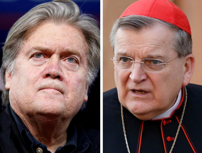 Citing alignment with Steve Bannon, Cardinal Burke cuts ties with Dignitatis Humanae Institute