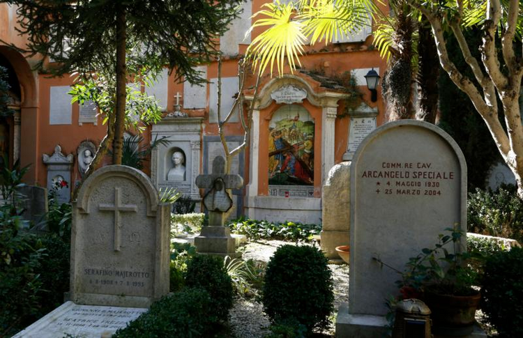 "The Teutonic cemetery at the Vatican is seen in this 2015 file photo. The decision to open two tombs in the cemetery was made in response to the request of Emanuela Orlandi's family and their questioning ""the possible concealment of her cadaver in the small cemetery located within Vatican City State."" She disappeared in 1983. (CNS photo/Paul Haring)"