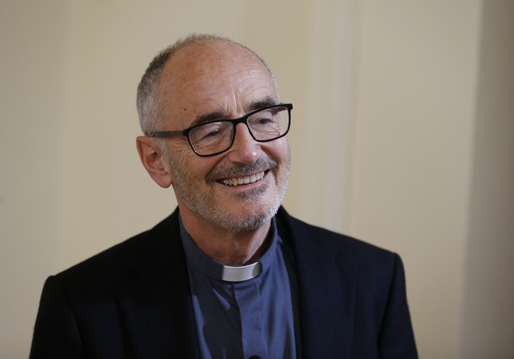 "Cardinal-designate Michael Czerny is pictured during an interview in Rome Sept. 27, 2019. He described becoming a cardinal as an intensification of an ""ongoing mission"" of assisting Pope Francis. Cardinal-designate Czerny and 12 others will be created cardinals by the pope Oct. 5. (CNS photo/Paul Haring)"