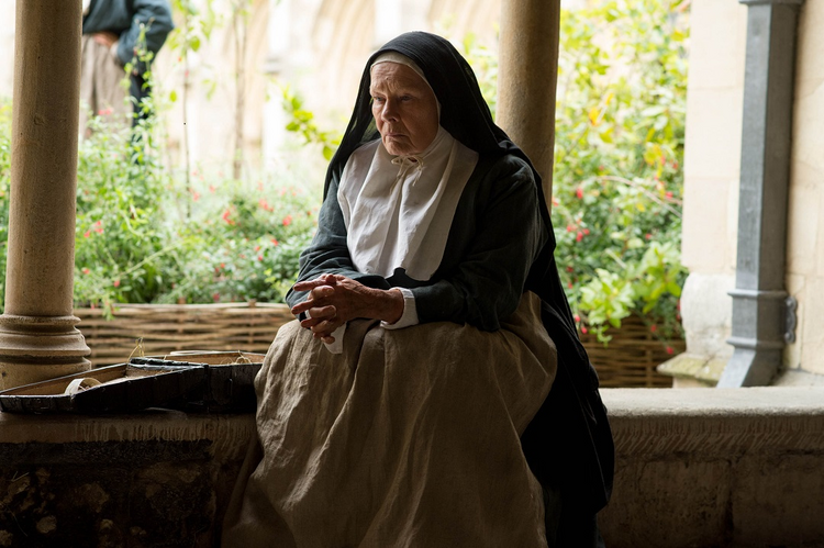 "Dame Judi Dench plays a humane, down-to-earth Abbess in ""Tulip Fever."" (photo by Weinstein Company)"