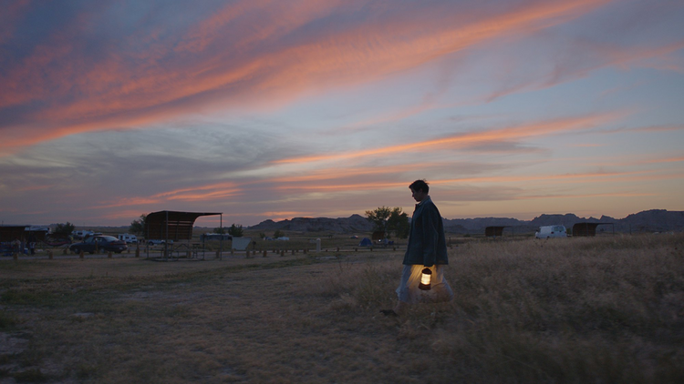 "Frances McDormand in ""Nomadland,"" which played at film festivals in 2020 and will be released to theaters in February 2021. Photo Courtesy of Searchlight Pictures. © 2020 20th Century Studios All Rights Reserved."