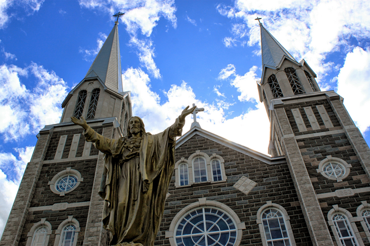 Sts. Paul and Peter Catholic Church in Baie-Saint-Paul, near Quebec City. (CNS photo/Philippe Vaillancourt, Presence)