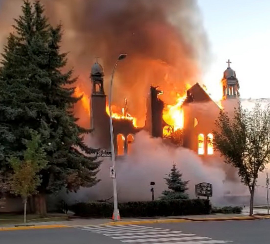 Arson and vandalism continue at Canadian churches as more Indigenous burial sites are revealed