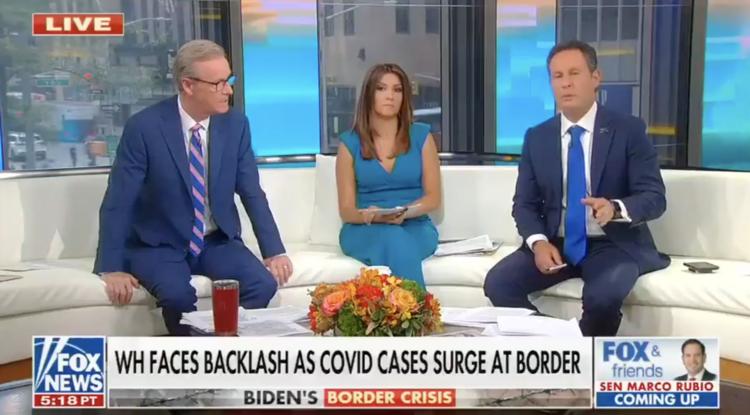 """Fox and Friends"" co-hostsSteve Doocy,Rachel Campos-Duffy and Brian Kilmeade(Screen shot from ""Fox and Friends,"" Fox News channel)"