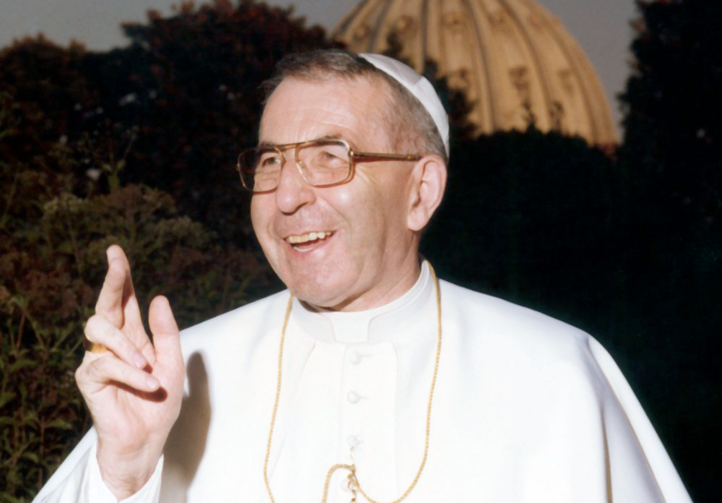 Pope John Paul I is pictured at the Vatican in 1978 during his short time as pontiff
