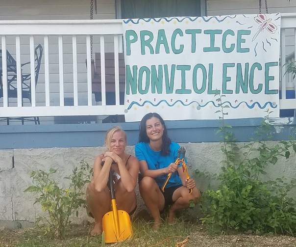 Catholic Wokers and pipeline protesters Jessica Reznicek and Ruby Montoya  (Facebook: Mississippi Stand)