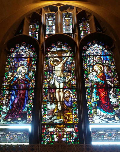 Crucifixion Window, St. Mary's Chapel, Boston College