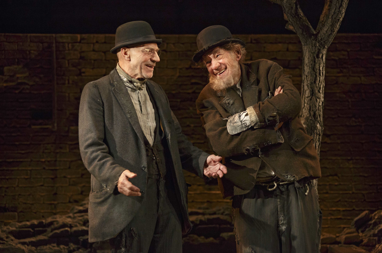 "HAPPY DAYS? Patrick Stewart and Ian McKellen in a new production of ""Waiting for Godot"""