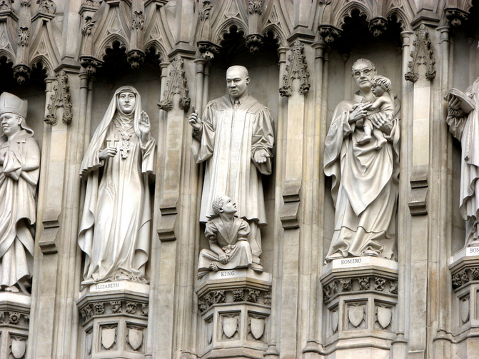 Westminster Abbey 20th Century Martyrs (Flickr)