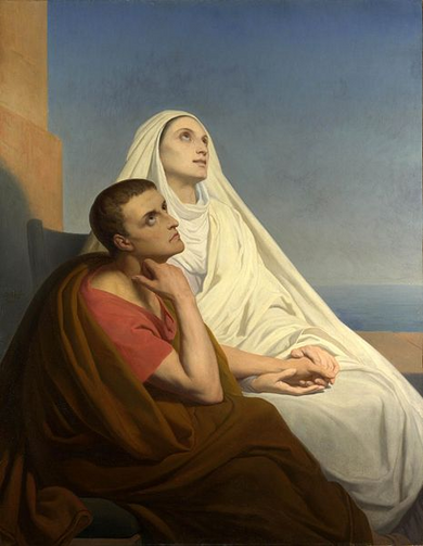 Saint Augustine and his mother Monica (Photo courtesy of Wikimedia Commons)
