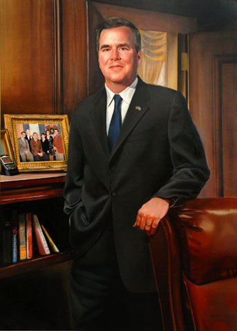 Official portrait of former Gov. Jeb Bush from the state of Florida's website