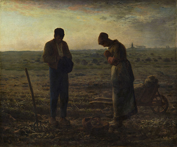 """The Angelus"" by Jean-François Millet, c. 1857-1859."
