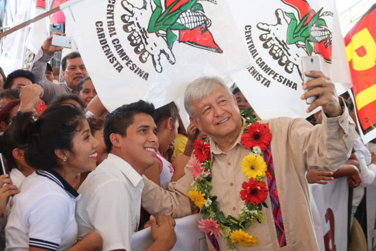 Mexican presidential candidate Andrés Manuel López Obrador (image from campaign website)
