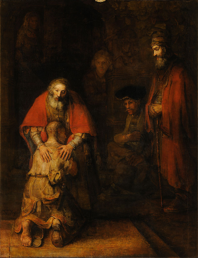 "Rembrandt, ""The Return of the Prodigal Son."" Courtesy of Wikipedia."
