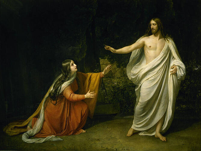 Alexander Ivanov's Christ's Appearance to Mary Magdalene after the Resurrection